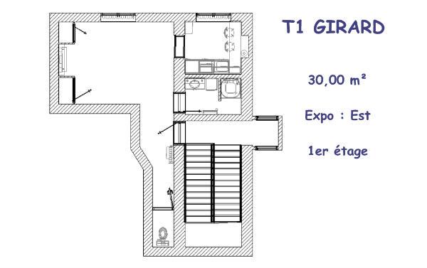 Girard T1 plan logt